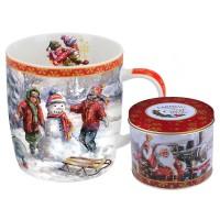 Kubek Świąteczy Puszka Zabawy Na Śniegu 400ml Carmani