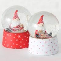Kula Śnieżna Mikołaj Świąteczny  z Pozytywką 9cm