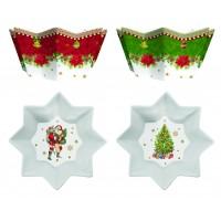 Komplet 2 miseczek w świąteczne wzory