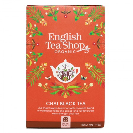 Herbata prezentowa Chai Black Tea 20 saszetek English Tea Shop