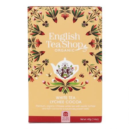 Herbata White Tea Lychee Cocoa 20 saszetek English Tea Shop