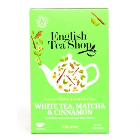 Herbata prezentowa White Tea, Matcha, Cinnamon 20 saszetek English Tea Shop