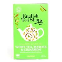 Herbata White Tea, Matcha, Cinnamon 20 saszetek English Tea Shop