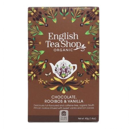 Herbata prezentowa Chocolate Rooibos Vanilla 20 saszetek English Tea Shop
