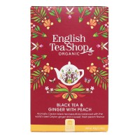 Herbata prezentowa Black Tea & Ginger with Peach 20 saszetek English Tea Shop