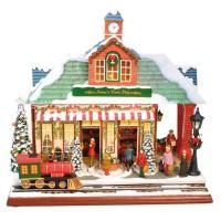 Świąteczny Domek 31 cm z Pozytywką