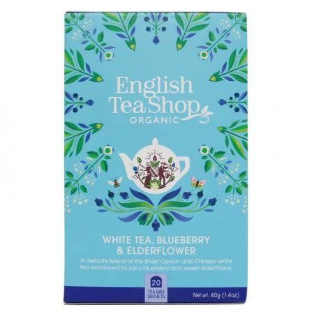 Herbata prezentowa White Tea Blueberry Elderflower 20 saszetek English Tea Shop