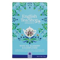 Herbata prezentowa White Tea Blueberry Elderflower 20 saszetek English Tea Shop