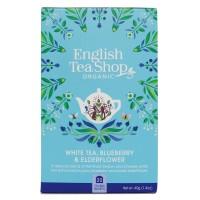 Herbata White Tea Blueberry Elderflower 20 saszetek English Tea Shop