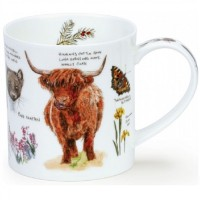 Kubek Orkney Scottish Notebook Highland Cow 350ml Dunoon