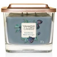 Świeca kwadratowa średnia z 3- knotami Dark Berries Yankee Candle