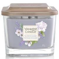 Świeca kwadratowa średnia z 3- knotami Sea Salt & Lavender Yankee Candle