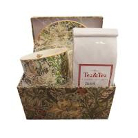 Zestaw filiżanka z herbatą w pudełku