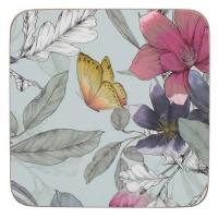 Podkładki Motyle kwiatowe 10.5x10.5 cm Creative Tops