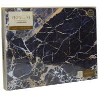 Podkładki Granatowy marmur CT 30 x 22 cm, 6 szt