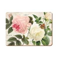 Podkładki Rose garden CT 30 x 22 cm, 6 szt