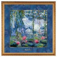 Obraz ''Seerosen mit Weide'' 68x68 cm Claude Monet  Goebel