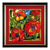 Obraz Orientalische Mohnblume 56x56cm Louis Comfort Tiffany Goebel