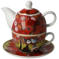 Tea for one Innamorati tra i papaveri 350ml  Rosina Wachtmeister Goebel