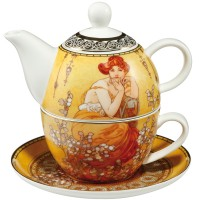 Tea for one Topaz 350 ml Alphonse Mucha Goebel