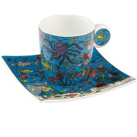 Zestaw 2 filiżanek espresso Under the Deep Blue Sea James Rizzi Goebel