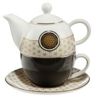 Tea for one Blume des Lebens Lotus Goebel