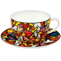 Filiżanka cappuccino Hearts 500 ml Romero Britto Goebel