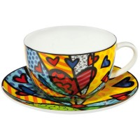 Filiżanka cappuccino A New Day 500 ml Romero Britto Goebel