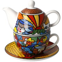 Tea for one Garden 350ml Romero Britto Goebel