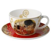 Filiżanka cappucino Pocałunek 250 ml Gustaw Klimt Goebel