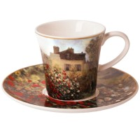 Kubek z talerzykiem Dom Artysty 350ml Claude Monet Goebel