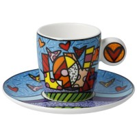 Zestaw filiżanek espresso Love 100ml Romero Britto Goebel