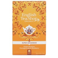 Herbata prezentowa Green Rooibos, Pomegranate & Blueberry 20 saszetek English Tea Shop