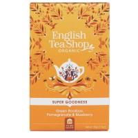 Herbata prezentowa Green Rooibos, Pomegranate & Blueberry 20 saszetek English Tea Shop