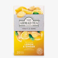 Herbata w saszetkach alu Infusion lemon & ginger 20szt AhmadTea