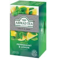 Herbata w saszetkach alu Infusion peppermint & lemon 20szt AhmadTea