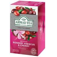 Herbata w saszetkach alu Infusion rosehip & cherry 20szt AhmadTea