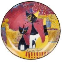 Talerz I gatti festeggiano10 cm Rosina Wachtmeister Goebel