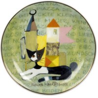 Talerz La storia di Serafino 10 cm Rosina Wachtmeister Goebel