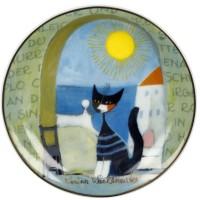 Talerz Il gatto e il mare 10 cm Rosina Wachtmeister Goebel