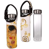 Szklana butelka z osłonką The Kiss  0,7 l Gustav Klimt Goebel