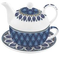 Tea for one Pawie oczko niebieskie 350/350ml Easy Life