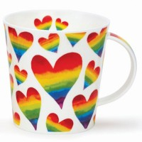 Kubek Cairngorm Rainbow Hearts 480ml Dunoon