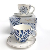 Zestaw 2 filiżanek espresso Elegance blue 125ml Easy Life