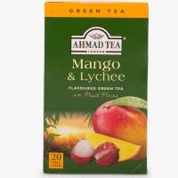 Herbata w saszetkach alu Mango & Lychee Green Tea 20szt AhmadTea