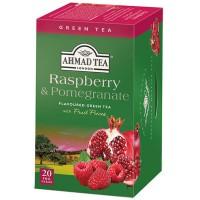 Herbata w saszetkach alu Raspberry & Pomegranate Green Tea 20szt AhmadTea