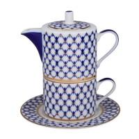 Tea for one Siatka kobaltowa 300 ml Łomonosov