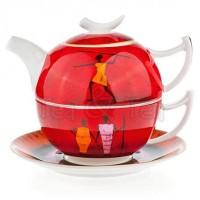 Tea for one Kariba zestaw filiżanka 250ml z dzbankiem Tea Logic