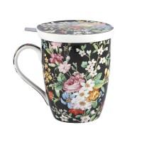 Kubek z zaparzaczem Kwiaty 450ml English Collection