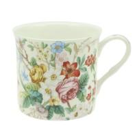 Kubek Biały Kwiatki 300ml English Collection